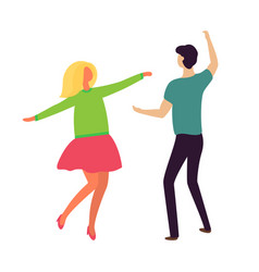 passion dance young couple boyfriend girlfriend vector image