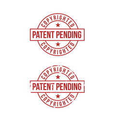 patent pending sign on white background red stamp vector image