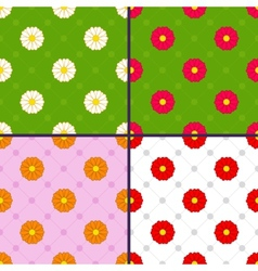 patterns with daisies vector image