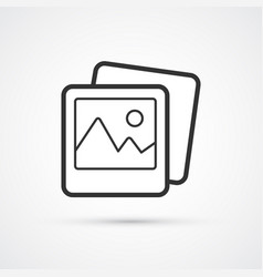 Photo flat line trendy black icon eps10 vector