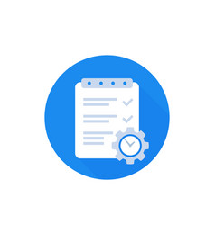 Project management icon flat vector