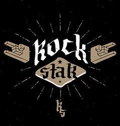 Rock Star - retro badge for poster flayer or vector