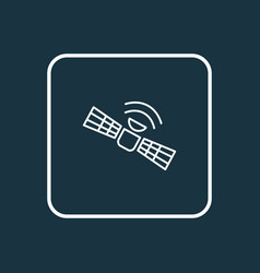 satellite icon line symbol premium quality vector image