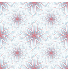 Seamless pattern with flower chrysanthemum vector image