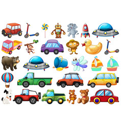 Set children toy vector