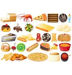 Set different food vector