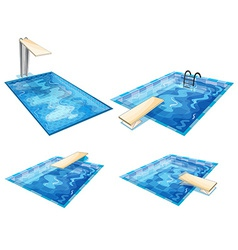 Set of pools vector image