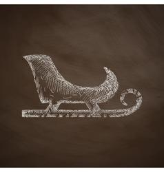 Sledge icon vector