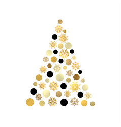 stylized christmas tree isolated on white backdrop vector image