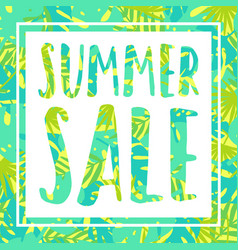summer sale tropical style banner vector image