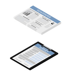 Survey and newspaper vector