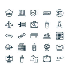 Travel icons set collection of road map vector