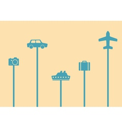 travel symbols backgroung vector image