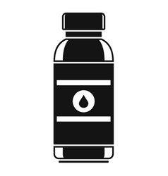 water drink bottle icon simple style vector image