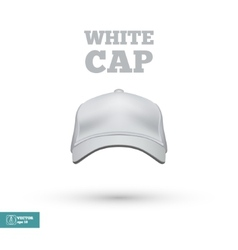 White Cap isolated on white vector