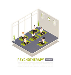 yoga psychotherapy treatment isometric vector image
