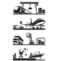 Cargo terminals in perspective vector image vector image