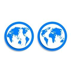 earth blue vector image