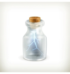 Lightning in a bottle icon vector image vector image