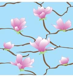 Sakura flowers seamless abstract pattern vector image vector image
