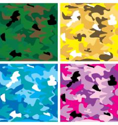 camouflage tile vector image