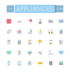 Flat Appliances Icons vector image vector image