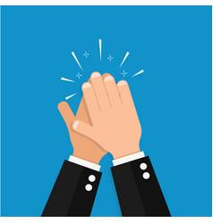 hand clap success vector image vector image