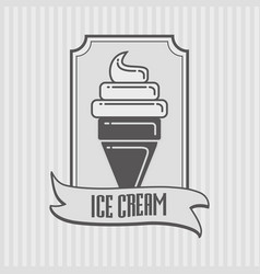 ice cream icon logo or badge concept vector image vector image