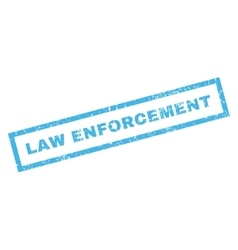 Law Enforcement Rubber Stamp vector image vector image