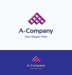 A letter logo vector image vector image