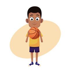 boy sport basketball image vector image