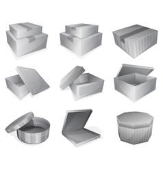 Cardboard parcel icon vector image