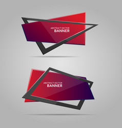 Colorful banner with frame vector