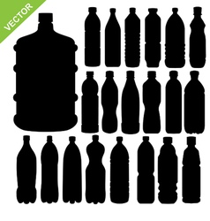 drink bottle silhouettes vector image vector image