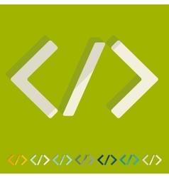 Flat design programming vector image