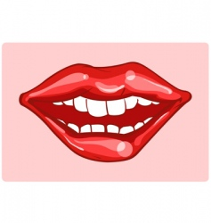 wide smile vector image