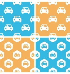 Car pattern set colored vector image
