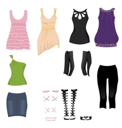 date clothes vector image vector image