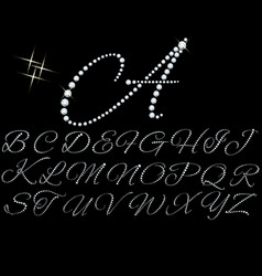 diamonds alphabet vector image