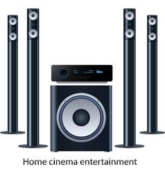 Home cinema speker system vector image