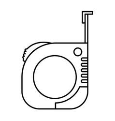 measure tape icon monochrome silhouette vector image