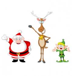 Santa rudolph elf vector image vector image