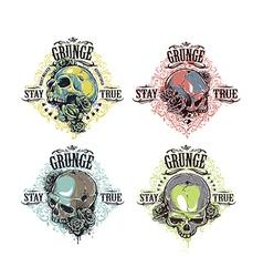 Skulls Prints Bundle vector image vector image