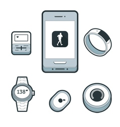 Wearable FItness Devices vector image vector image