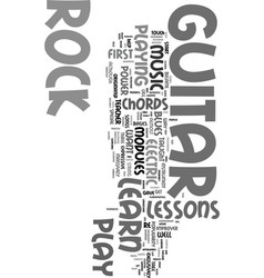 you can learn to play rock guitar text word cloud vector image