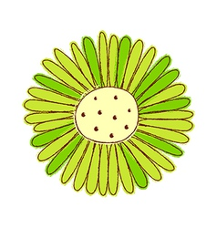 a view sunflower vector image