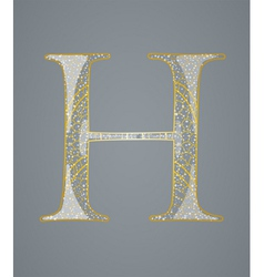 Abstract golden letter H vector