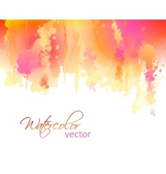 Abstract watercolor streaks background vector image