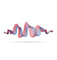 abstract wave ribbon red blue color design element vector image