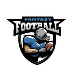 american football sport logo vector image
